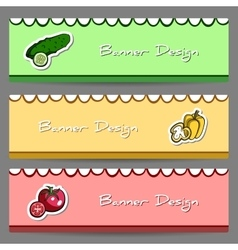 Vegetablebanners2 vector