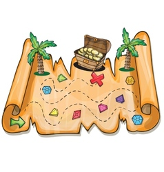 Pirate treasure chest - vector