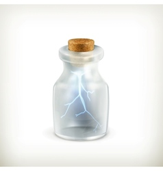 Lightning in a bottle icon vector
