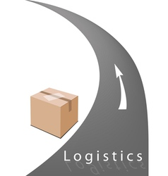 Cardboard box ready for delivery and shipping vector