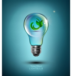 Concept light bulb with the germ inside vector