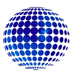 Abstract sphere logo vector