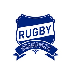Rugby champions shield vector