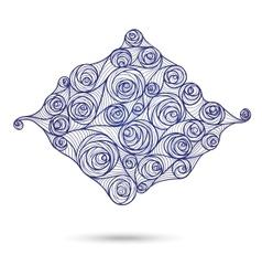 Pattern scroll motif for vintage design card vector