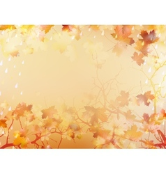Autumnal background with maple leaves eps 10 vector