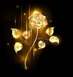 Golden rose vector