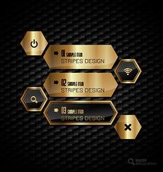 Golden hexagons vector