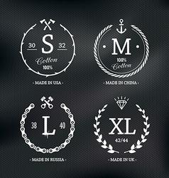 Size emblems 1 vector
