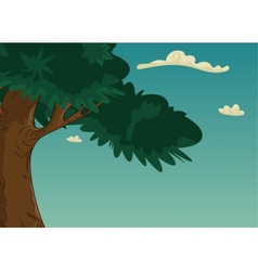 Summer landscape with trees and foliage vector