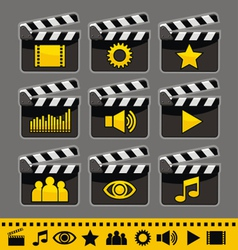 Video and audio icons set vector