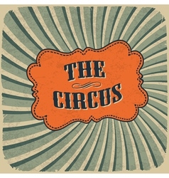 Circus retro colors card vector