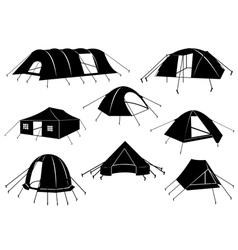 Set of tents isolated vector