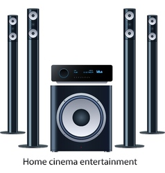 Home cinema speker system vector
