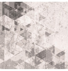 Grunge retro tech background triangles pattern vector