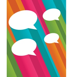 Colorful 3d speech bubbles vector