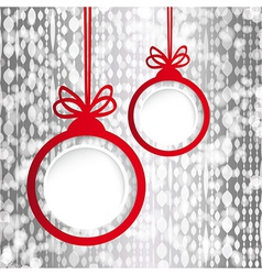 Christmas ball in the form of an empty frame for vector