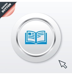 Book sign icon open book symbol vector