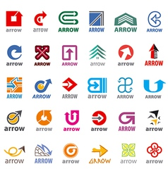 Biggest collection of logos arrow vector