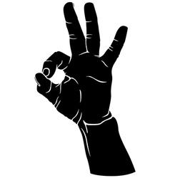 Hand okay vector