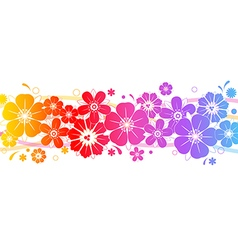 Decorative background with bright flowers vector
