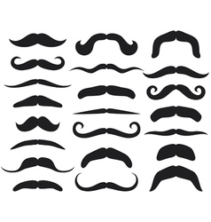 Set of mustache vector