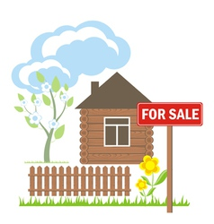 House sale sign vector