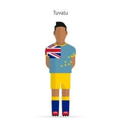 Tuvalu football player soccer uniform vector