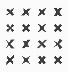 Check mark icons vector