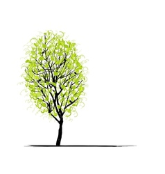 Young tree green for your design vector