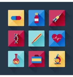 Set of medical icons in flat design style vector