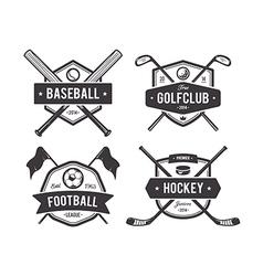 Sport emblems 1 vector