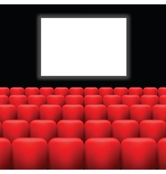Cinema screen and red seats vector