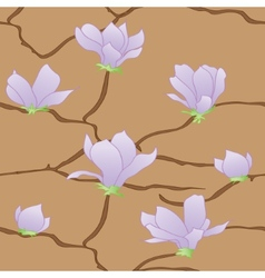 Sakura flowers seamless abstract pattern vector