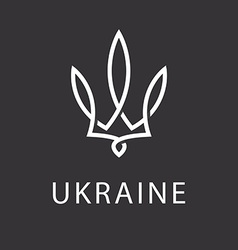 Emblem of ukraine floral logo monogram with the vector