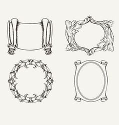 Four ancient frames vector