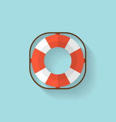 Lifebuoy flat web icon vector
