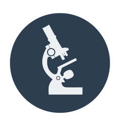 Single flat microscope icon vector