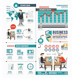 Infographic business world job template design vector