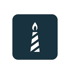 Candle icon rounded squares button vector