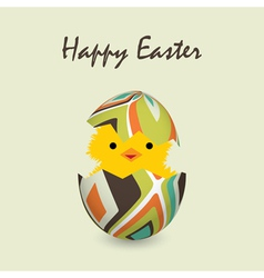 Easter card with a hatching chick vector