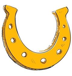 Lucky horseshoe cartoon icon vector