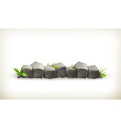 Stones and grass vector