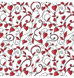 Background with hearts ornament vector