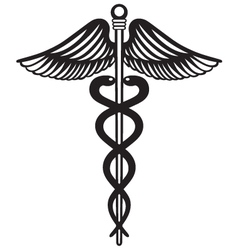 Symbol medical caduceus vector