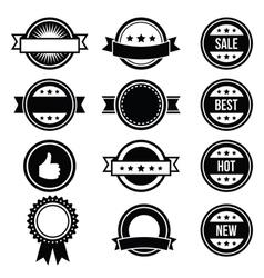 Retro round badges vintage labels set - vector