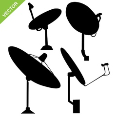 Satellite dish silhouette vector