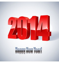 New 2014 year glossy figures vector