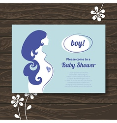 Silhouette pregnant mother vector