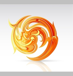 Fire flame as design element vector