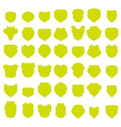 Yellow shields vector
